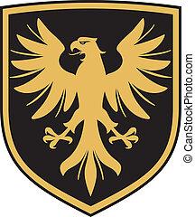 (coat, örn, vapen, emblem)