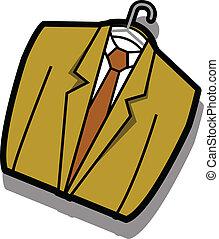 Coat jacket business suit on hanger - Business suit or coat...