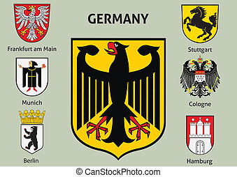 Coat of arms. Cities in Germany