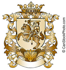 Coat of arms drawn by hand - Coat of arms drawn by hand
