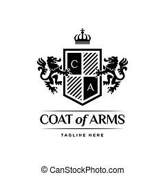 Coat Of Arms Heraldic Luxury Logo Design Concept