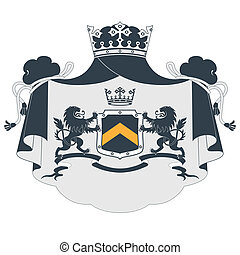 Coat of arms isolated on white back