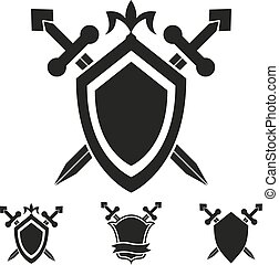 Coat of arms knight shield templates - Coat of arms medieval...