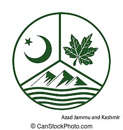Coat of Arms of Azad Jammu and Kashmir is a Pakistan region.