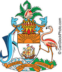 Coat of arms of Bahamas - vectorial image of coat of arms of...