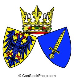 Coat of arms of Essen, Germany.