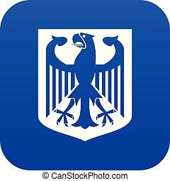Coat of Arms of Germany icon digital blue