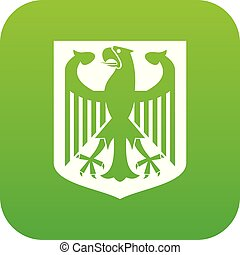 Coat of Arms of Germany icon digital green
