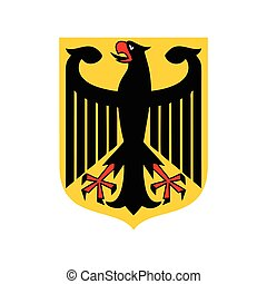 Coat of arms of Germany icon, flat style