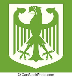 Coat of Arms of Germany icon green