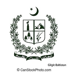 Coat of Arms of Gilgit-Baltistan is a Pakistan region. Vector emblem
