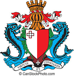 Coat of arms of Malta - vectorial image of coat of arms of...