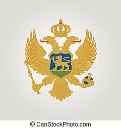 Coat of arms of Montenegro. Vector illustration