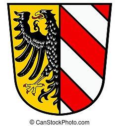 Coat of arms of Nurnberg (Nuremberg), Germany. Vector Format.