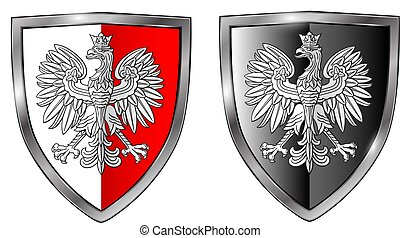 Coat of Arms of Poland, national 3D symbol icon
