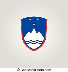 Coat of arms of Slovenia. Vector illustration