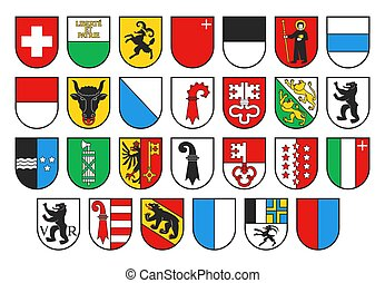 Coat of arms of Switzerland and Swiss cantons