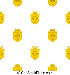 Coat of arms of tennis club pattern flat