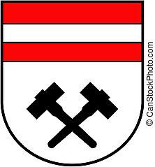 Coat of arms of the city of Schwaz. Austria
