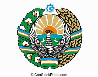 Coat of arms of Uzbekistan vector illustration eps10