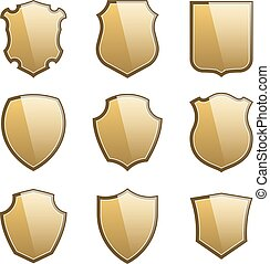 Coat of arms. Shields icon set
