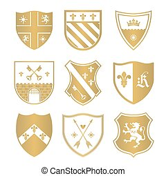 Coat of arms silhouettes