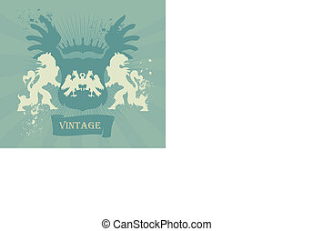 Coat of arms vintage vector background