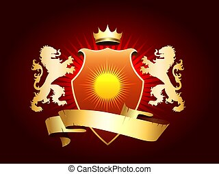 Coat of Arms with Golden lions