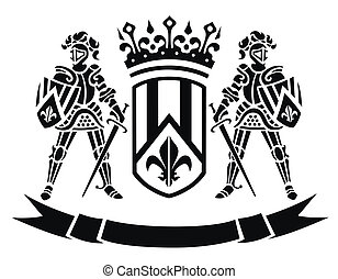 Coat of arms with knights