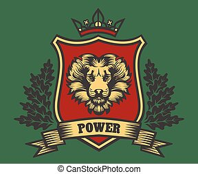 Coat of Arms with Lion Head