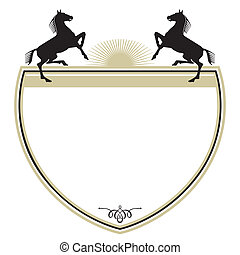 Coat of arms with two horses