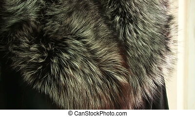 Coat of thick fur
