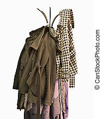 coat rack, isolated