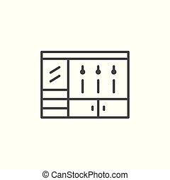 Coat-rack line icon