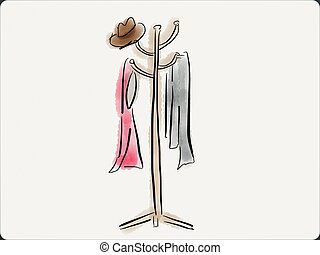 Coat Rack Illustrations And Clip Art 1566 Royalty Free