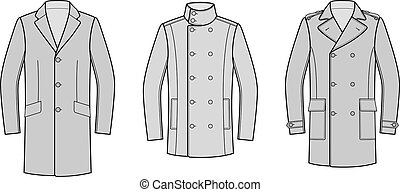 Coat - Vector illustration of coat. Clothes in business...