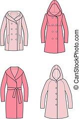 Coat - Vector illustration of overcoat