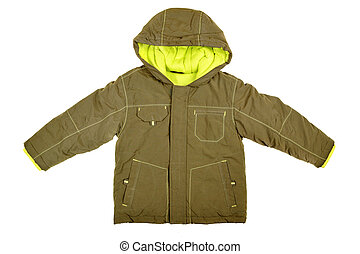 Coat with hood - Children's wear - coat with hood isolated...