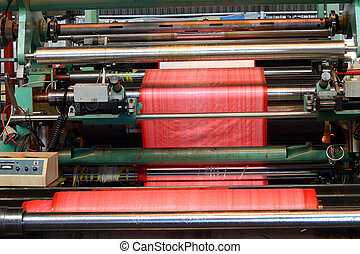 coating machine - a coating machine in operation