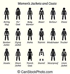 coats., ジャケット, 女性
