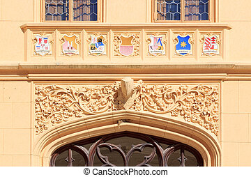 Coats of arms in castle Lednice - Coats of arms in the...
