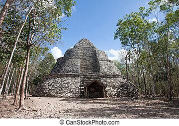 Coba ruins, Mexico - Pyramid in Coba ruins, Quintana Roo,...
