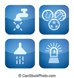 Various camping icons: Dirty Water, Playground, Shower, Park are are not secure