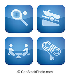 Various camping icons: Sport playground, Boat ramp, Playground, Power cord