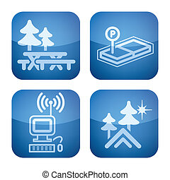 Cobalt 2D Squared Set: Camping