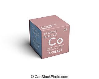 obalt. Transition metals. Chemical Element of Mendeleev's...