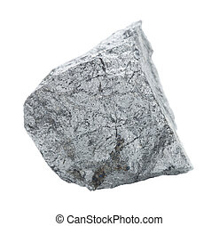 Cobaltite stone isolated on white - Specimen of geological...