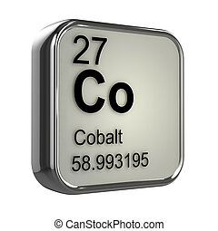 cobalto,  3D, elemento