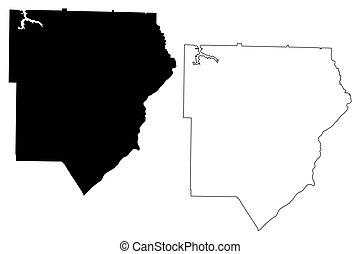 Cobb County, Georgia (U.S. county, United States of America, USA, U.S., US) map vector illustration, scribble sketch Cobb map