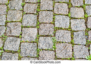 cobble stone pavers as a background